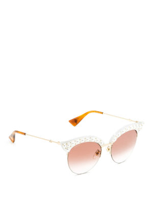 Gucci: sunglasses - Pearl effect stud sunglasses