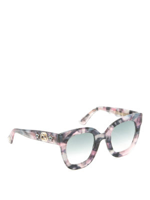 Gucci: sunglasses - Pink acetate star GG sunglasses