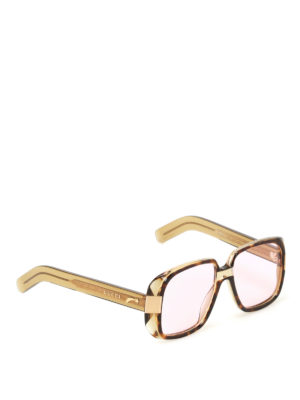 Gucci: sunglasses - Pink lenses tortoise sunglasses