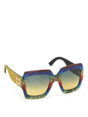 Gucci: sunglasses - Rainbow over sunglasses