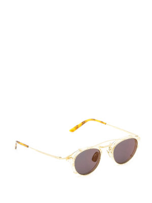 Gucci: sunglasses - Removable sun lenses metal glasses