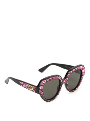 Gucci: sunglasses - Rhinestone-embellished sunglasses