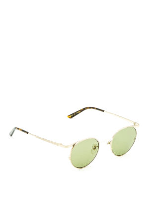 Gucci: sunglasses - Slim frame round sunglasses