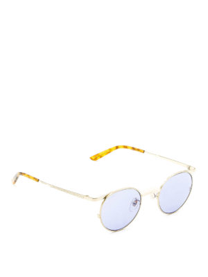 Gucci: sunglasses - Slim metal frame round sunglasses