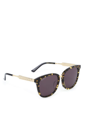 Gucci: sunglasses - Spotted tortoiseshell sunglasses