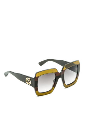 Gucci: sunglasses - Square acetate sunglasses