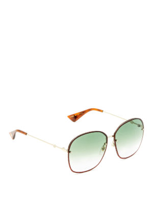 Gucci: sunglasses - Square glitter frame sunglasses