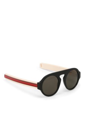 Gucci: sunglasses - Sunglasses with striped temples