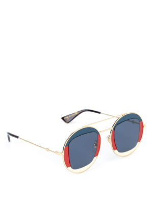 Gucci: sunglasses - Sylvie Web metal frame sunglasses
