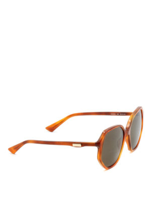 Gucci: sunglasses - Tortoise geometric sunglasses