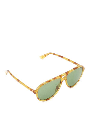 Gucci: sunglasses - Tortoiseshell acetate sunglasses