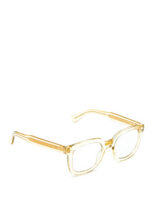 Gucci: sunglasses - Transparent acetate square glasses