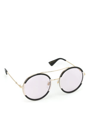 Gucci: sunglasses - Two-tone rounded sunglasses