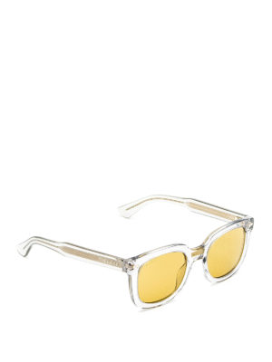 Gucci: sunglasses - Yellow lenses acetate sunglasses