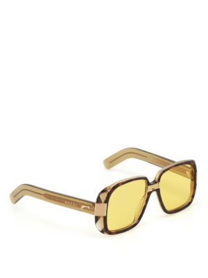 Gucci: sunglasses - Yellow lenses tortoise sunglasses