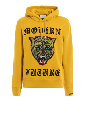 Gucci: Sweatshirts & Sweaters - Angry Cat cotton hoodie