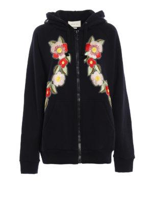 Gucci: Sweatshirts & Sweaters - Floral patch printed sweatshirt