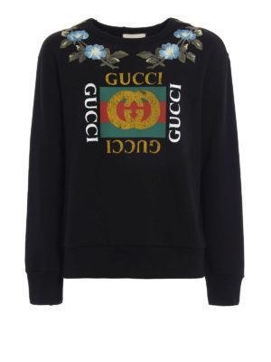Gucci: Sweatshirts & Sweaters - GG print embroidered sweatshirt
