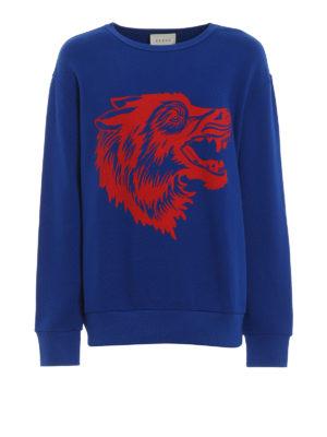 Gucci: Sweatshirts & Sweaters - Grunge-inspired print sweatshirt