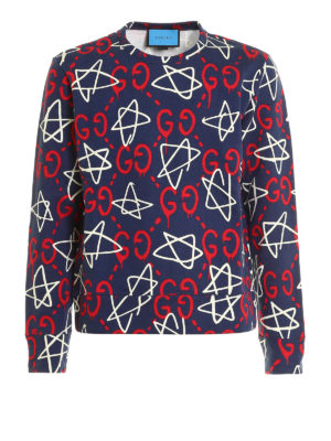 Gucci: Sweatshirts & Sweaters - GucciGhost print sweatshirt