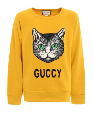 Gucci: Sweatshirts & Sweaters - Guccy embroidered cotton sweatshirt