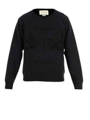 Gucci: Sweatshirts & Sweaters - Hummingbirds embroidery sweatshirt