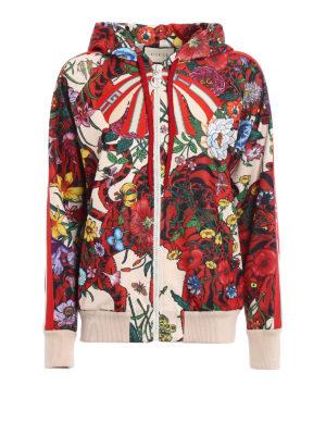 Gucci: Sweatshirts & Sweaters - Nature print hoodie
