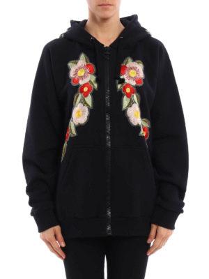 Gucci: Sweatshirts & Sweaters online - Floral patch printed sweatshirt
