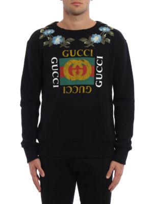 Gucci: Sweatshirts & Sweaters online - GG print embroidered sweatshirt