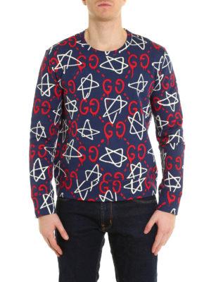 Gucci: Sweatshirts & Sweaters online - GucciGhost print sweatshirt