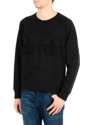 Gucci: Sweatshirts & Sweaters online - Hummingbirds embroidery sweatshirt