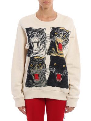 Gucci: Sweatshirts & Sweaters online - Tiger print oversize sweatshirt