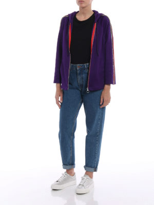 Gucci: Sweatshirts & Sweaters online - Web detailed embellished hoodie