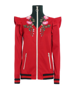Gucci: Sweatshirts & Sweaters - Technical jersey embroidered sweat