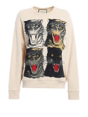 Gucci: Sweatshirts & Sweaters - Tiger print oversize sweatshirt
