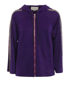 Gucci: Sweatshirts & Sweaters - Web detailed embellished hoodie