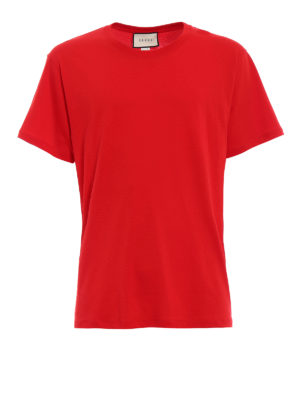 Gucci: t-shirts - Back logo print red Tee