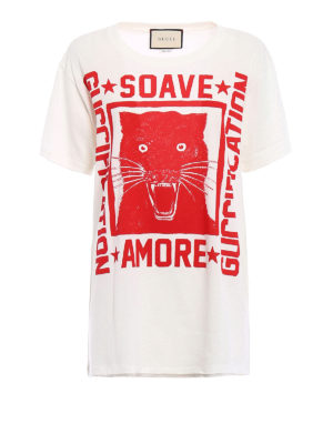 Gucci: t-shirts - Guccification red print over Tee