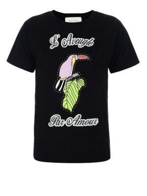 Gucci: t-shirts - L'Aveugle Par Amour cotton T-shirt