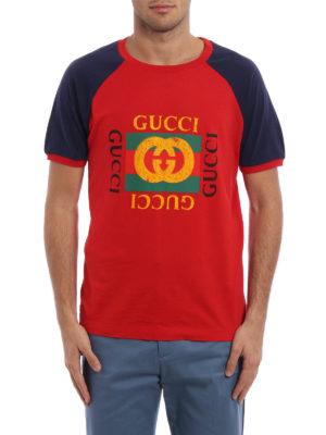 Gucci: t-shirts online - Gucci print jersey T-shirt