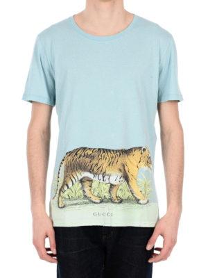 Gucci: t-shirts online - Tiger print vintage T-shirt