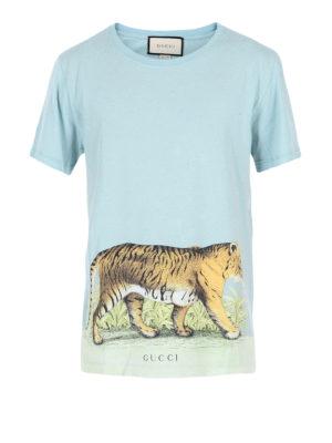 Gucci: t-shirts - Tiger print vintage T-shirt