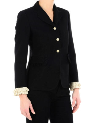 Gucci: Tailored & Dinner online - Frilled wool and silk formal jacket