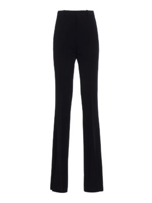 Gucci: Tailored & Formal trousers - Black light cady flared trousers