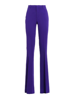 Gucci: Tailored & Formal trousers - Light cady flared trousers
