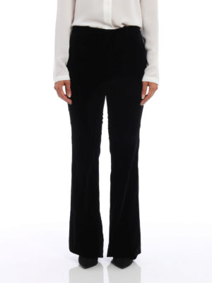 Gucci: Tailored & Formal trousers online - Velvet flared trousers