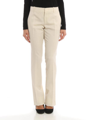 Gucci: Tailored & Formal trousers online - Wool and silk blend flared trousers