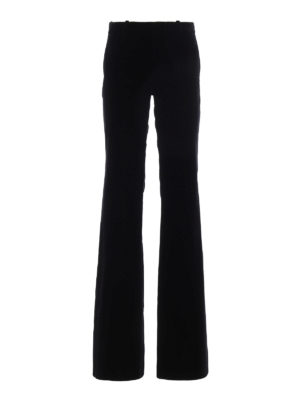 Gucci: Tailored & Formal trousers - Velvet flared trousers