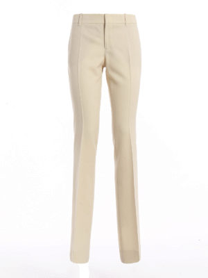 Gucci: Tailored & Formal trousers - Wool and silk blend flared trousers