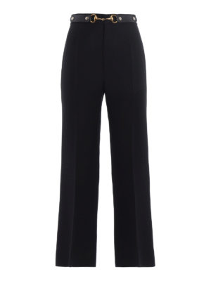 Gucci: Tailored & Formal trousers - Wool and silk flared crop trousers